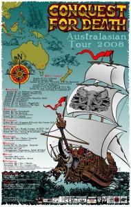 Australasian Tour Poster by Glenno